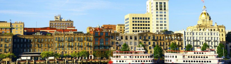 Panoramic view of Savannah, Georgia, USA